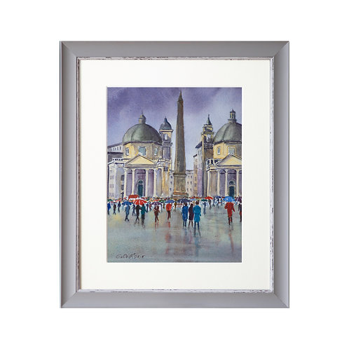 Rainy Rome Day Two Original Watercolour Painting