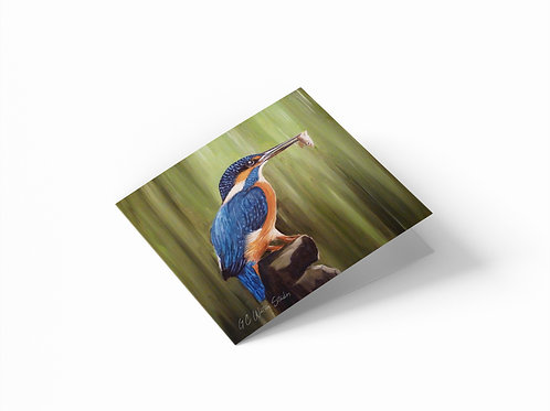 "Kingfisher 6"" x 6"" Square Greetings Card"