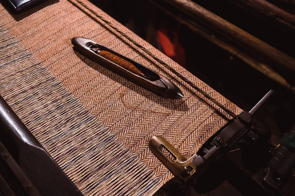 Harris Tweed Loom & Shuttle