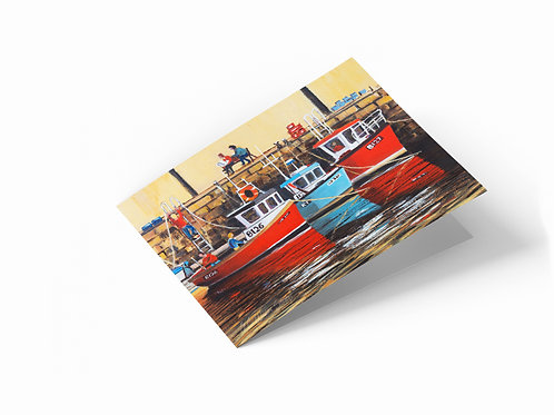 "Fishing Boats 7"" x 5"" Landscape Greetings Card"