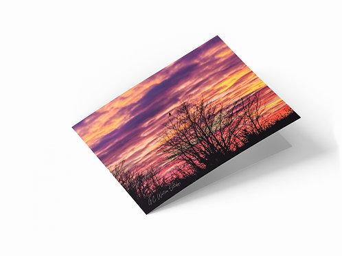 "Rainbow Sky, Norfolk 7"" x 5"" Landscape Greetings Card"