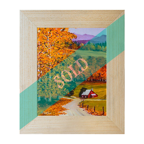 Vermont In The Fall Original Oil Painting