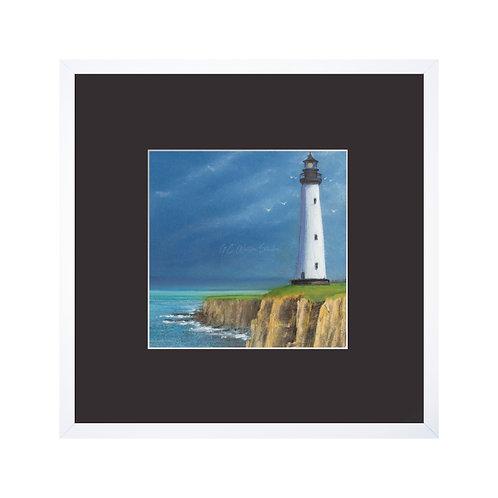 Majestic Lighthouse Original Pastel Drawing