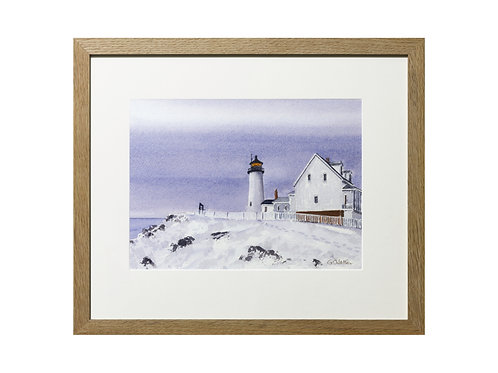 Pemaquid Point, Maine, USA Original Watercolour Painting