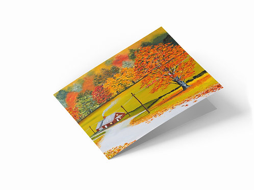 """The Fall 7"""" x 5"""" Landscape Greetings Card"""