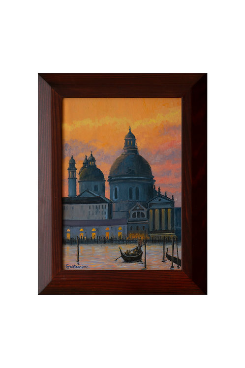 Evening Light in Venice, Italy Original Oil Painting