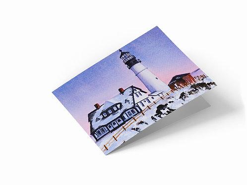 "Cape Elizabeth, Maine, USA 7"" x 5"" Landscape Greetings Card"