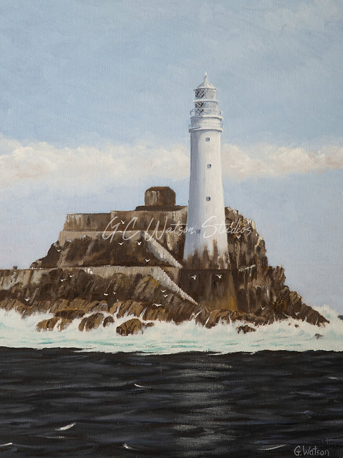 Fastnet Rock Original Oil Painting Canvas