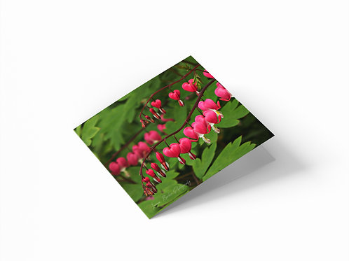 "Lyre Flowers 6""x 6"" Square Greetings Card"