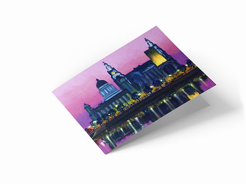 """Liverpool Waterfront 7"""" x 5"""" Landscape Greetings Card"""
