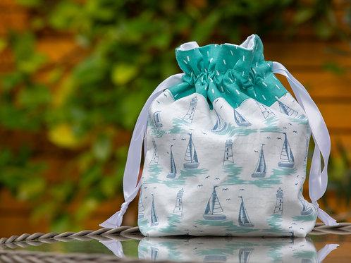 Nautical Handmade Drawstring Bag
