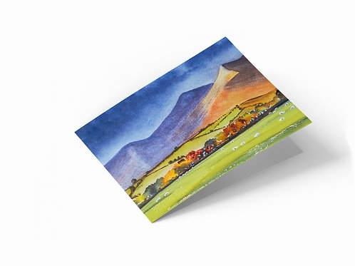 "Skiddaw, Lake District 7"" x 5"" Landscape Greetings Card"