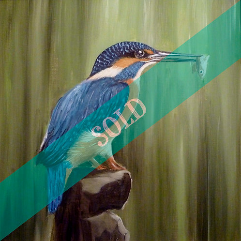 Kingfisher Original Oil Painting