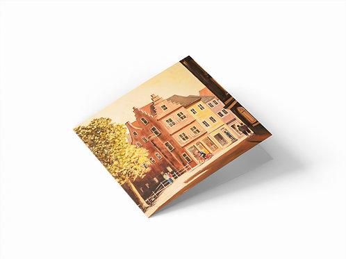 "Beestenmarkt, Delft 6"" x 6"" Square Greetings Card"