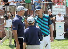 Jordan Speith with Honorary Observers at Bethpage Black