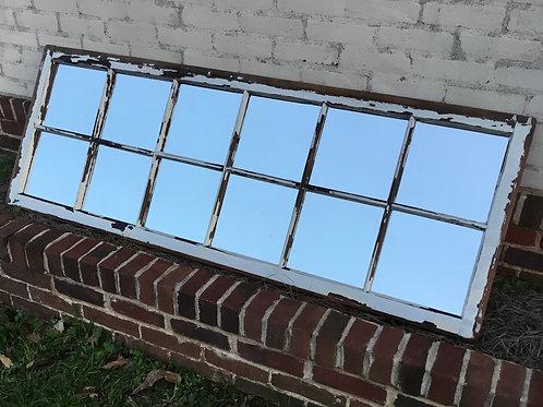 12 Pane Reclaimed Window Mirror