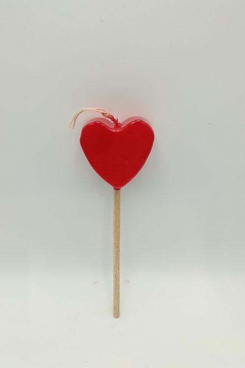 Λαμπάδα στικ καρδιά