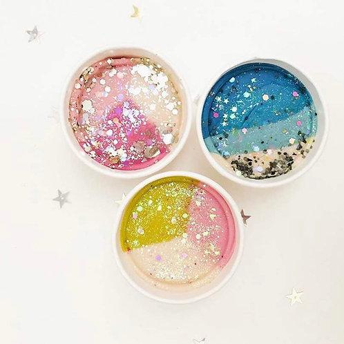 Glitter Dough Cups