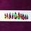 Thumbnail: Rainbow Smoke Stiletto Press-On Nails | Size: M