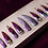 Thumbnail: Purple Marble Stiletto Press-on Nails