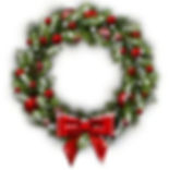 white-card-christmas-wreath-bow-260nw-33