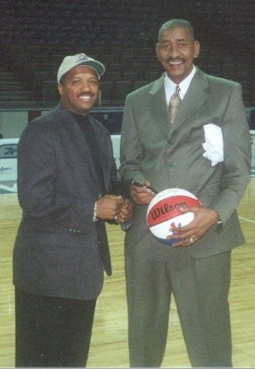 Bailey & George Gervin at ABA Finals KC,