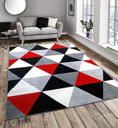 Flash Diamond Black Red 160x225cm