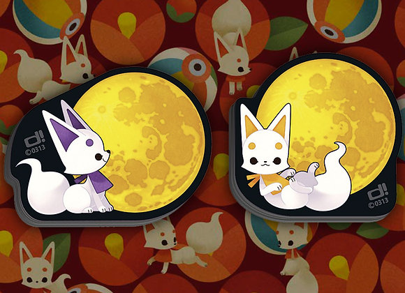 0313   0313造型便條紙 - 小狐狸與滿月(2入)【d/art獨家】