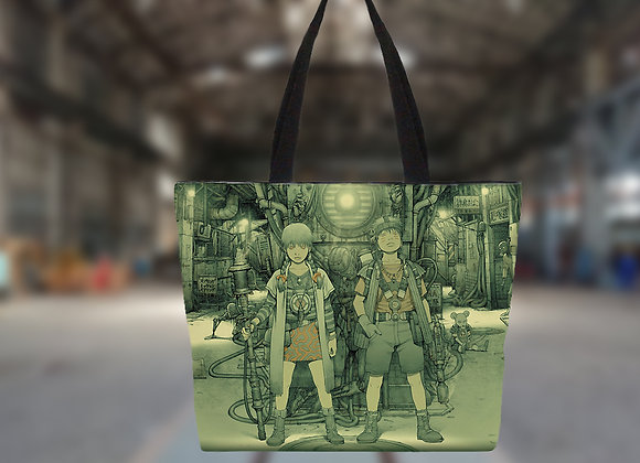 田中達之|「謎幻の機械展」 托特包 (綠色)【d/art獨家】