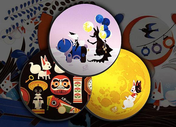 0313 | 「虹之森 台灣初個展」  軟性磁鐵套組【d/art獨家】