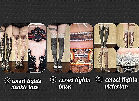 abilletage | 馬甲印花系列 褲襪