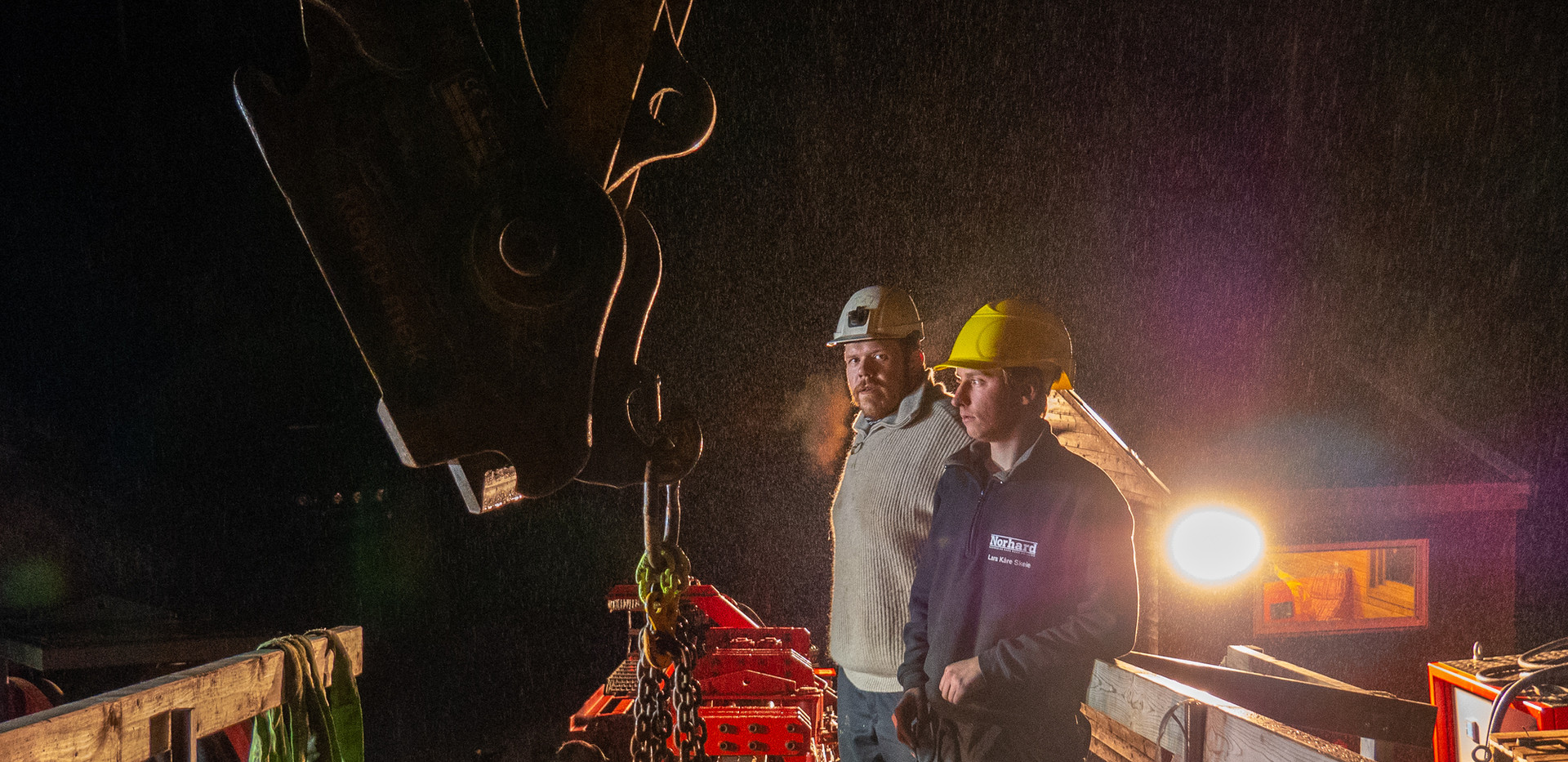 Testing of a new drilling machine