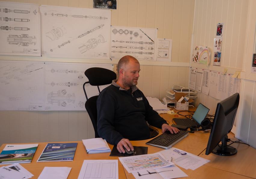 Kjetil at the office