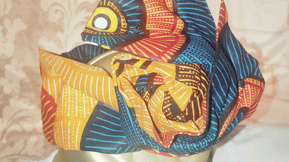 African Print Head Ties