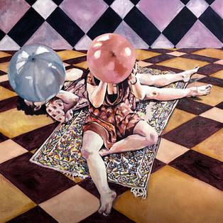 Harlequin Carpets - Oil on Canvas - 100x100cm.jpg