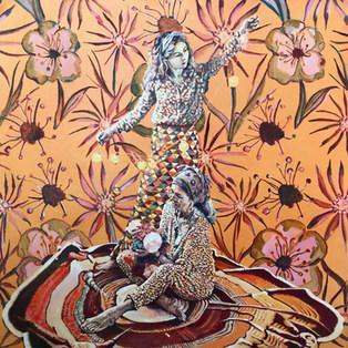 Flower power - Oil on Canvas - 100x100cm