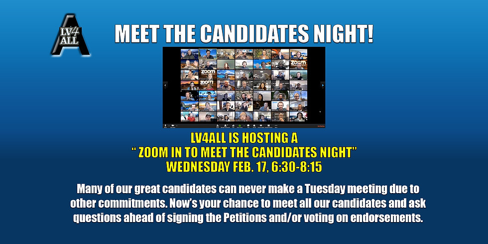 MEET THE CANDIDATES NIGHT!
