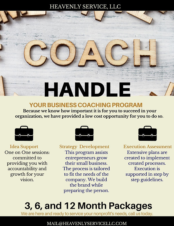 Handle Your Business Coaching Program In