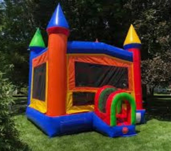 Modern Rainbow Castle Bounce