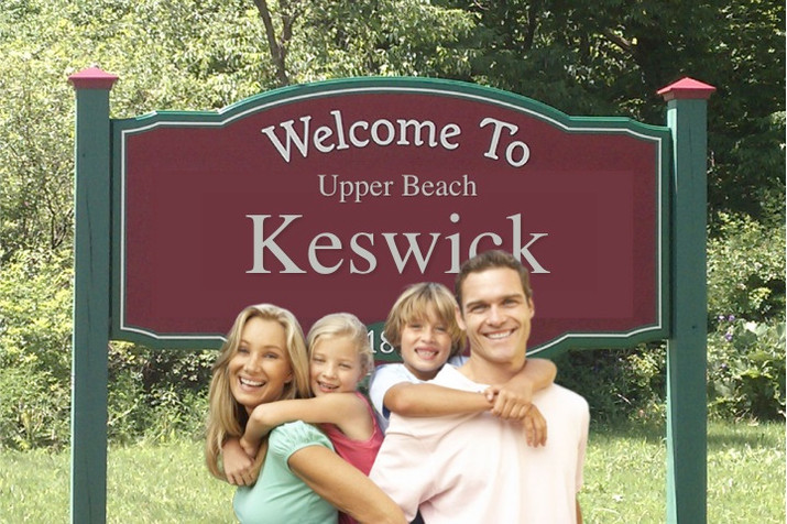 Realtors extend Upper Beach area as far North as Keswick Ontario