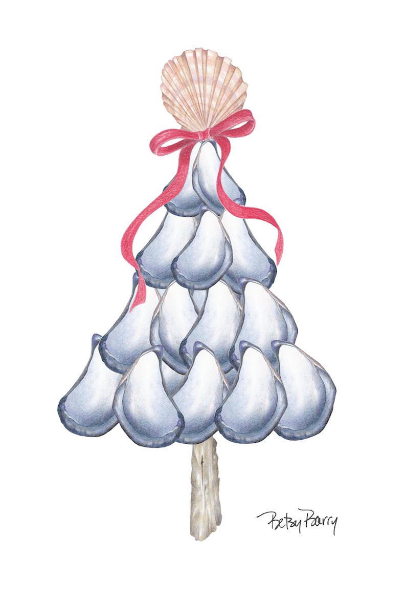 Mussel Tree with Ribbon
