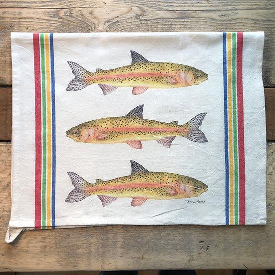 Salmon Flour Sack Towel