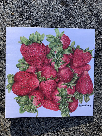Strawberries Notecard