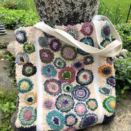 Large tote, Circle pattern $350