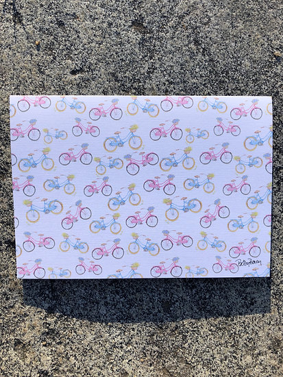 Bikes! Notecard