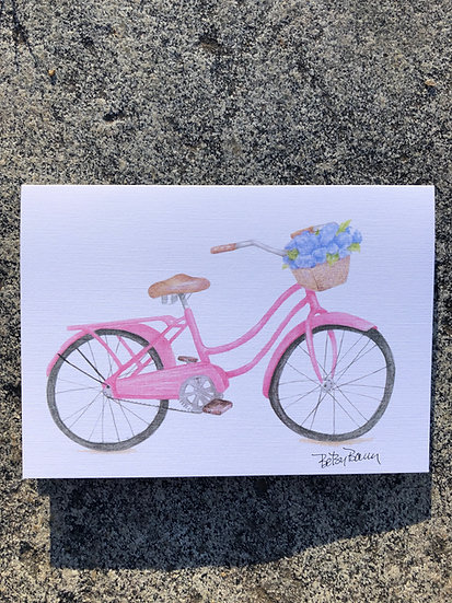 Pink Bike notecard