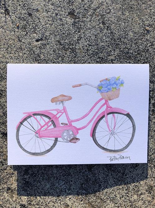 Pink Bike notecard