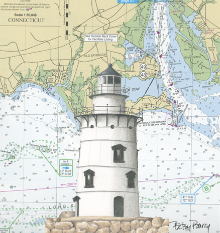 Old Saybrook Lighthouse & Chart