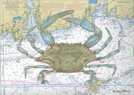 Blue crab & Chart