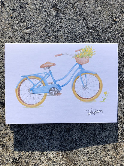 Blue Bike notecard